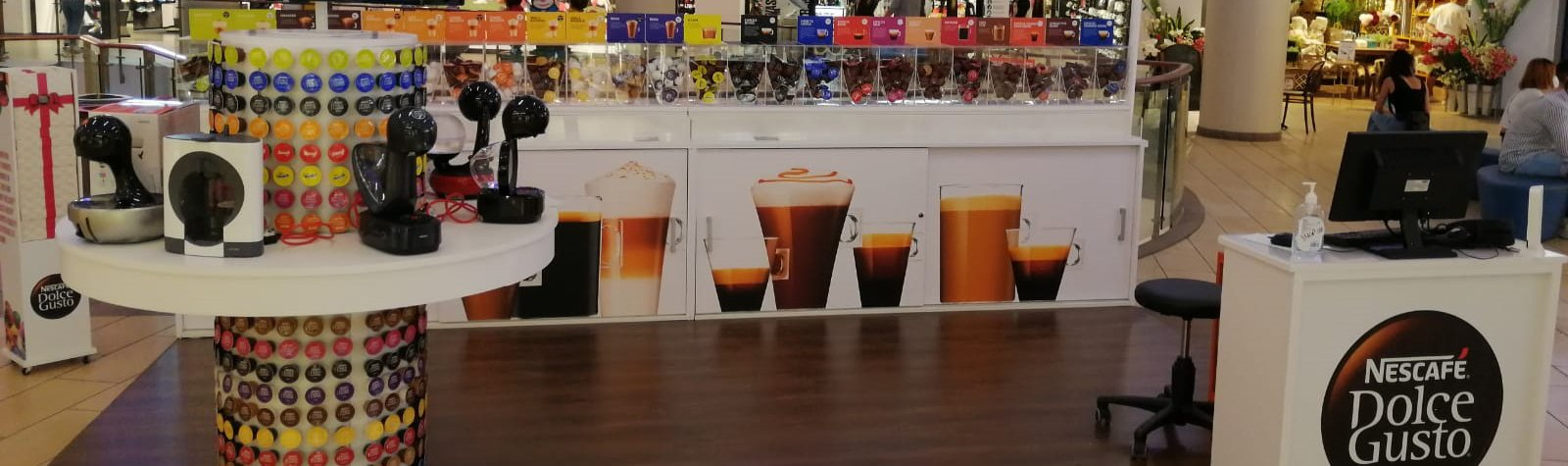 New Nescafe Dolce Gusto Stand at Tigné Point